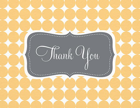 Yellow Pattern Thank You Card