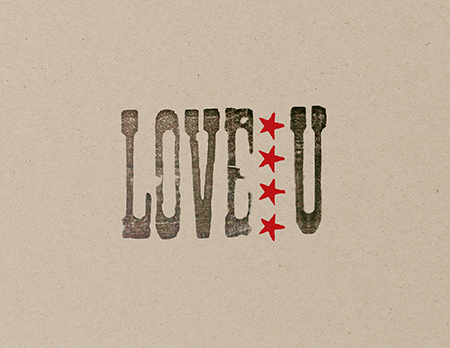 Vintage Stamp Love You Card