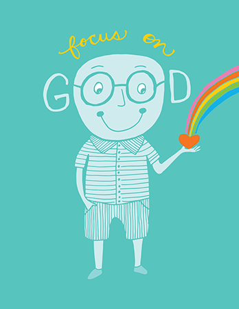 Whimsical Focus on Good Friend Card