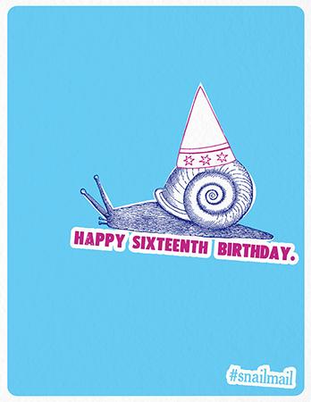 Happy Sixteenth Birthday Card