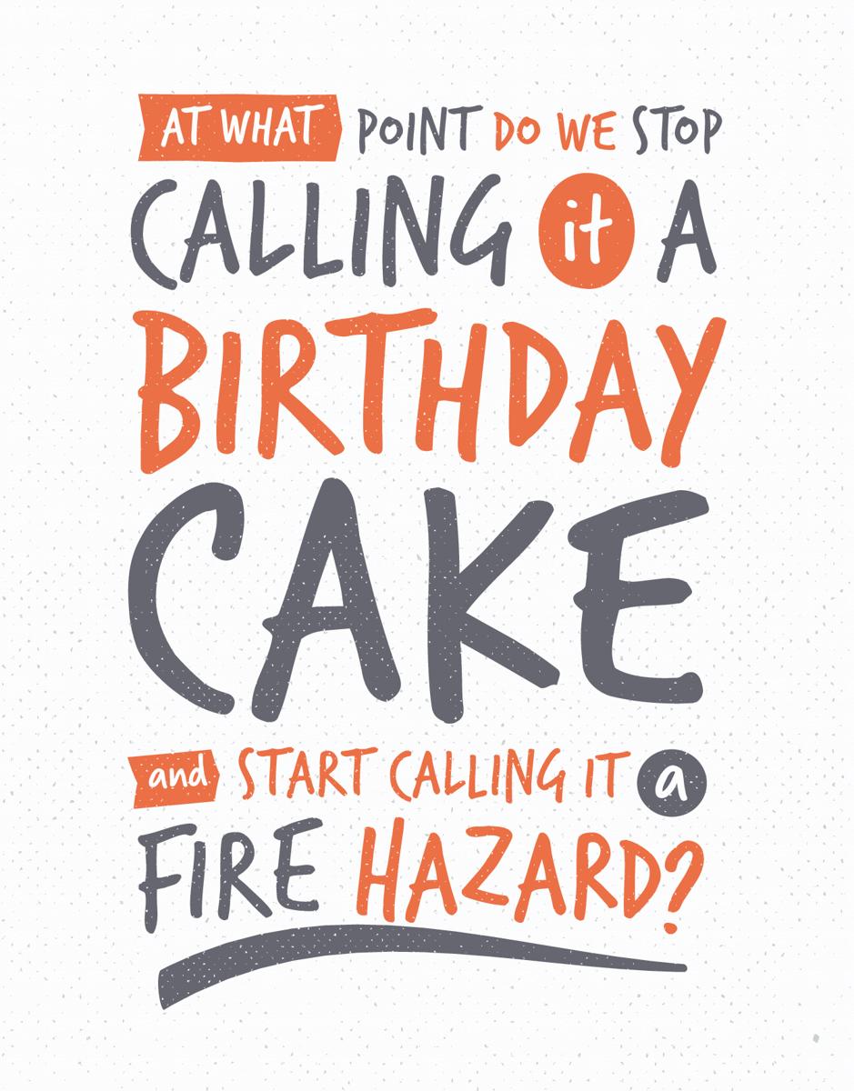 Cake Fire Hazard