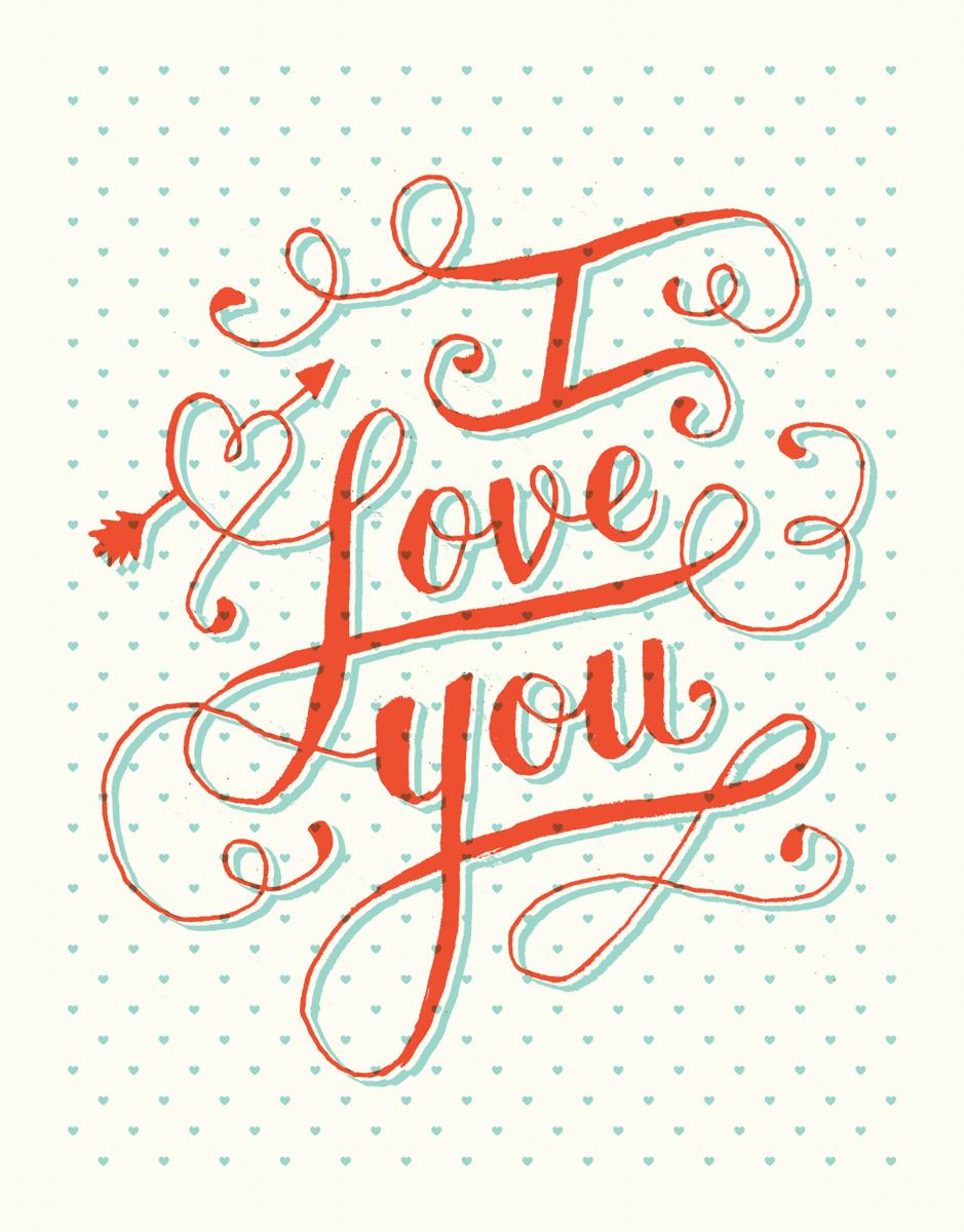 I Love You Swirls