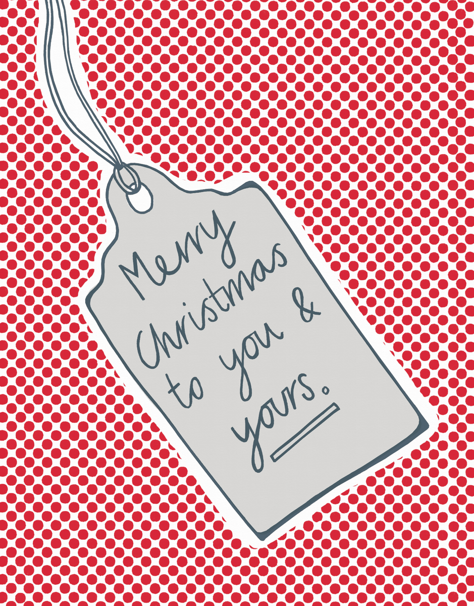 Red Doodle Christmas Card