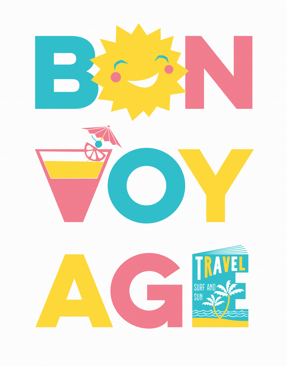 Cute Bon Voyage Good Luck Card