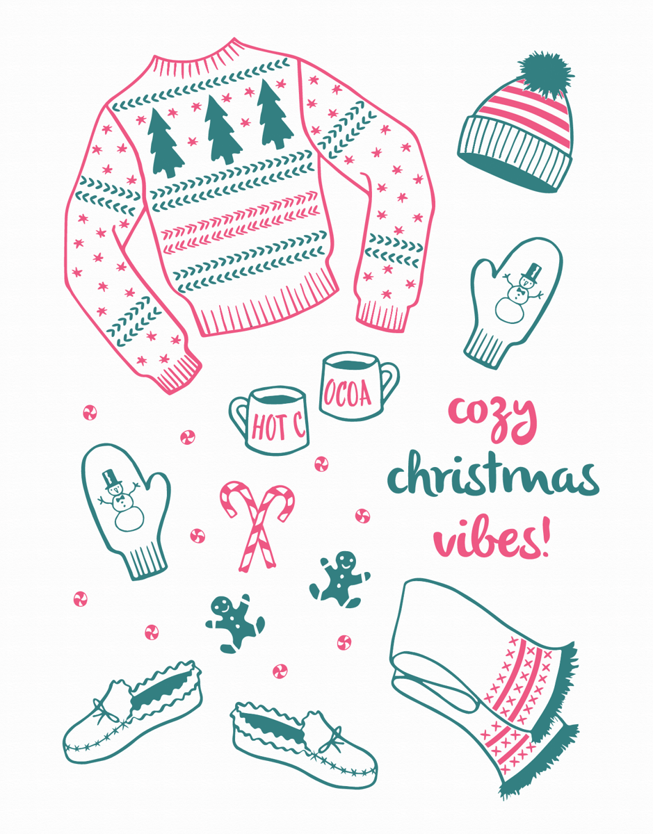 Warm and cozy Christmas Card