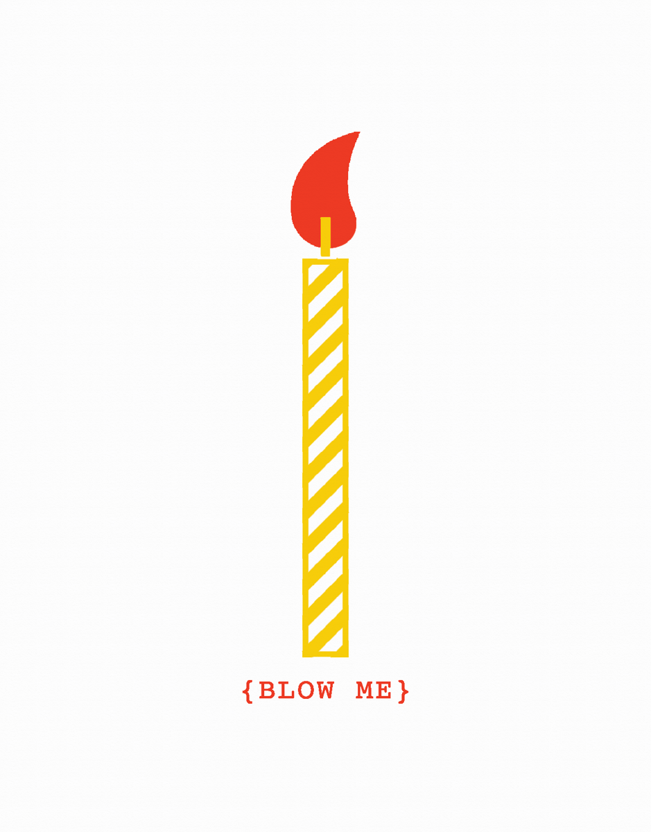 Simple Funny Pun Birthday Card