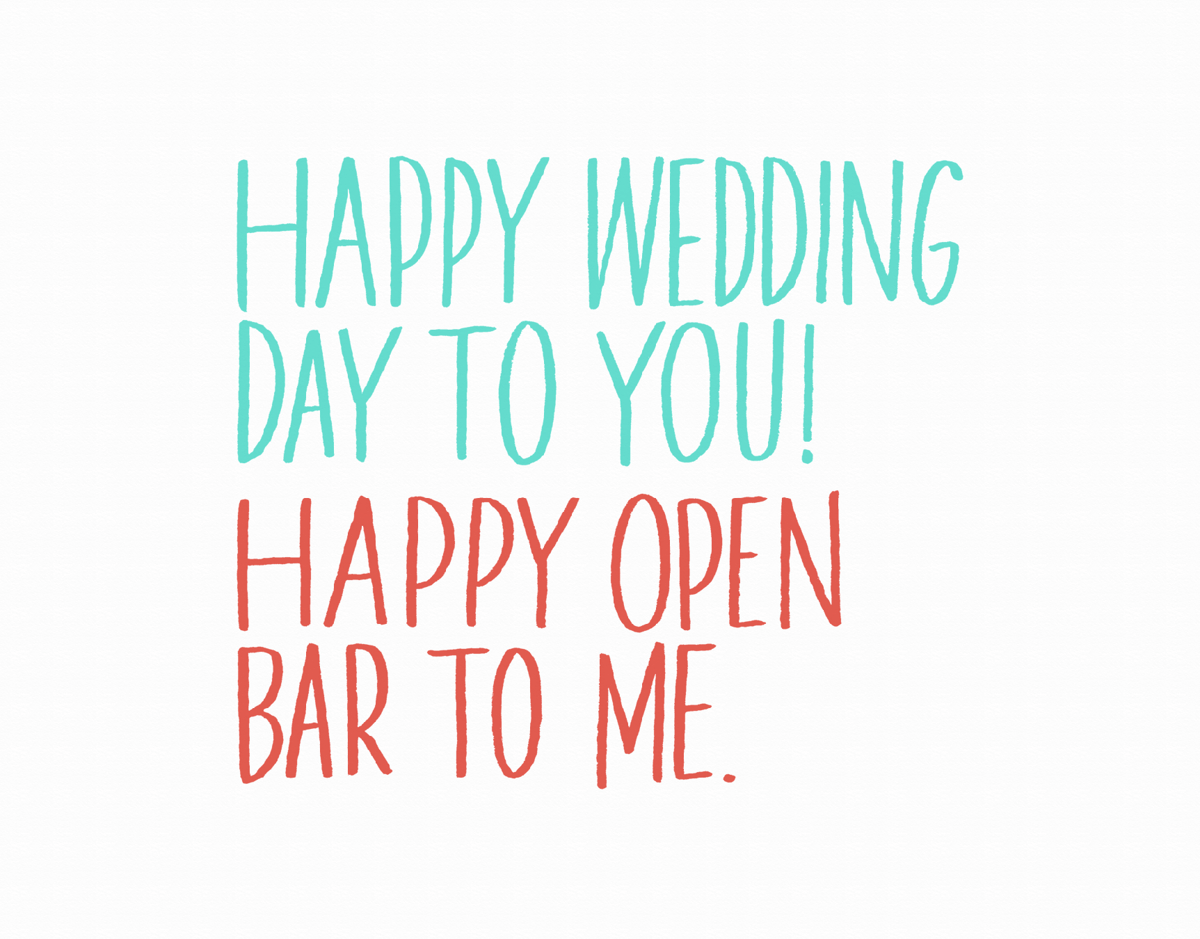 Sarcastic Wedding Congratulations Card