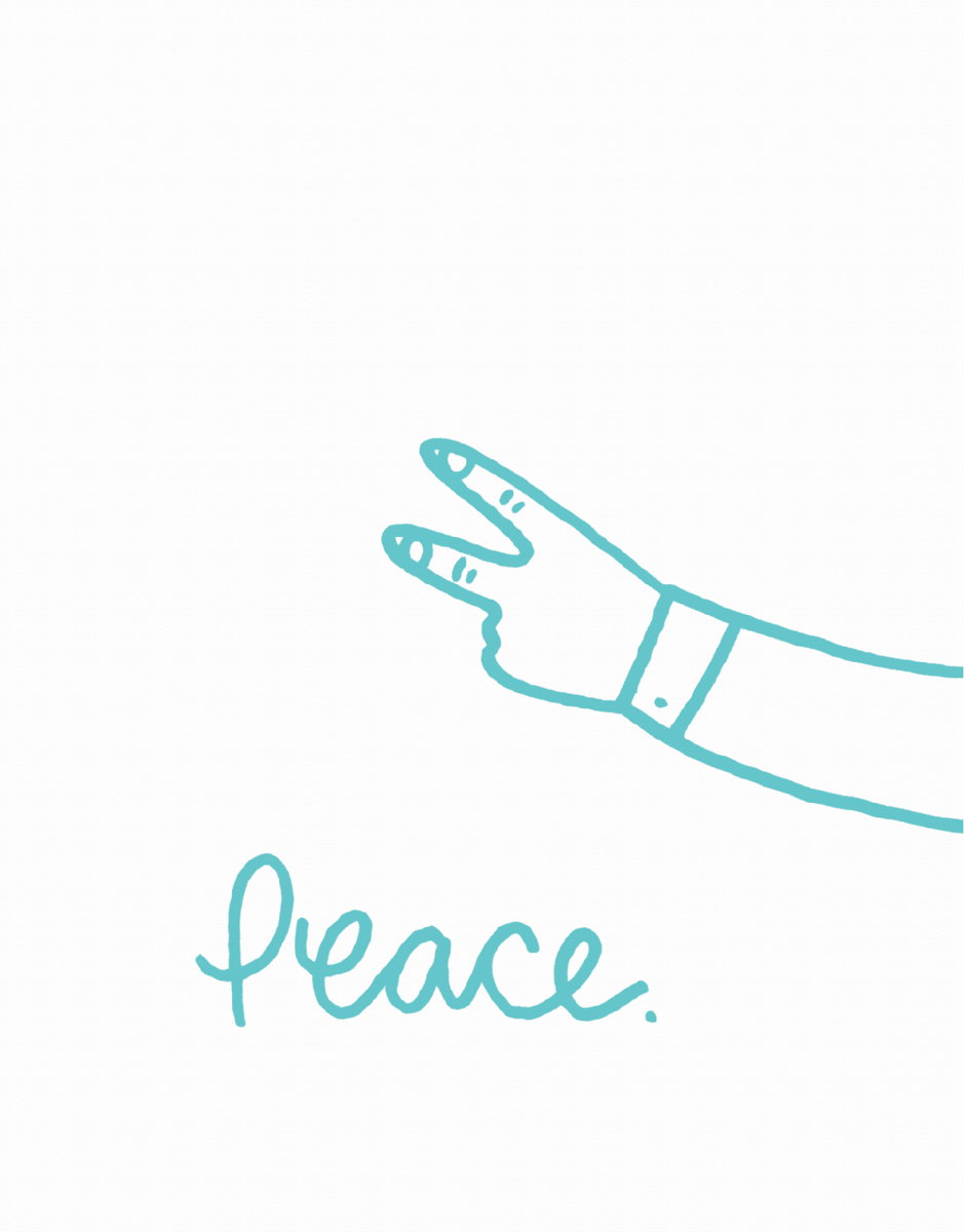 Hand Drawn Peace Friend Card