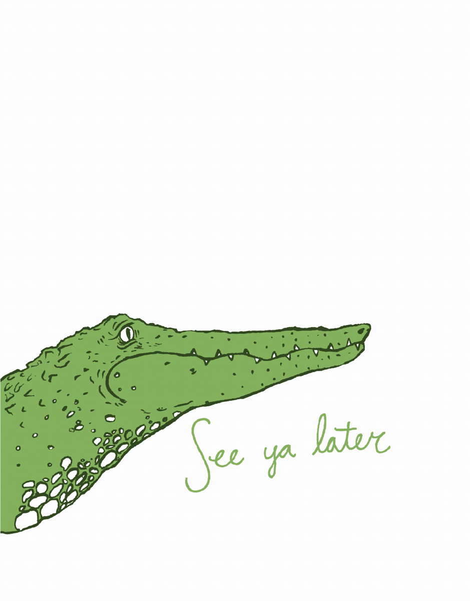 See Yak Later Alligator Friend Card