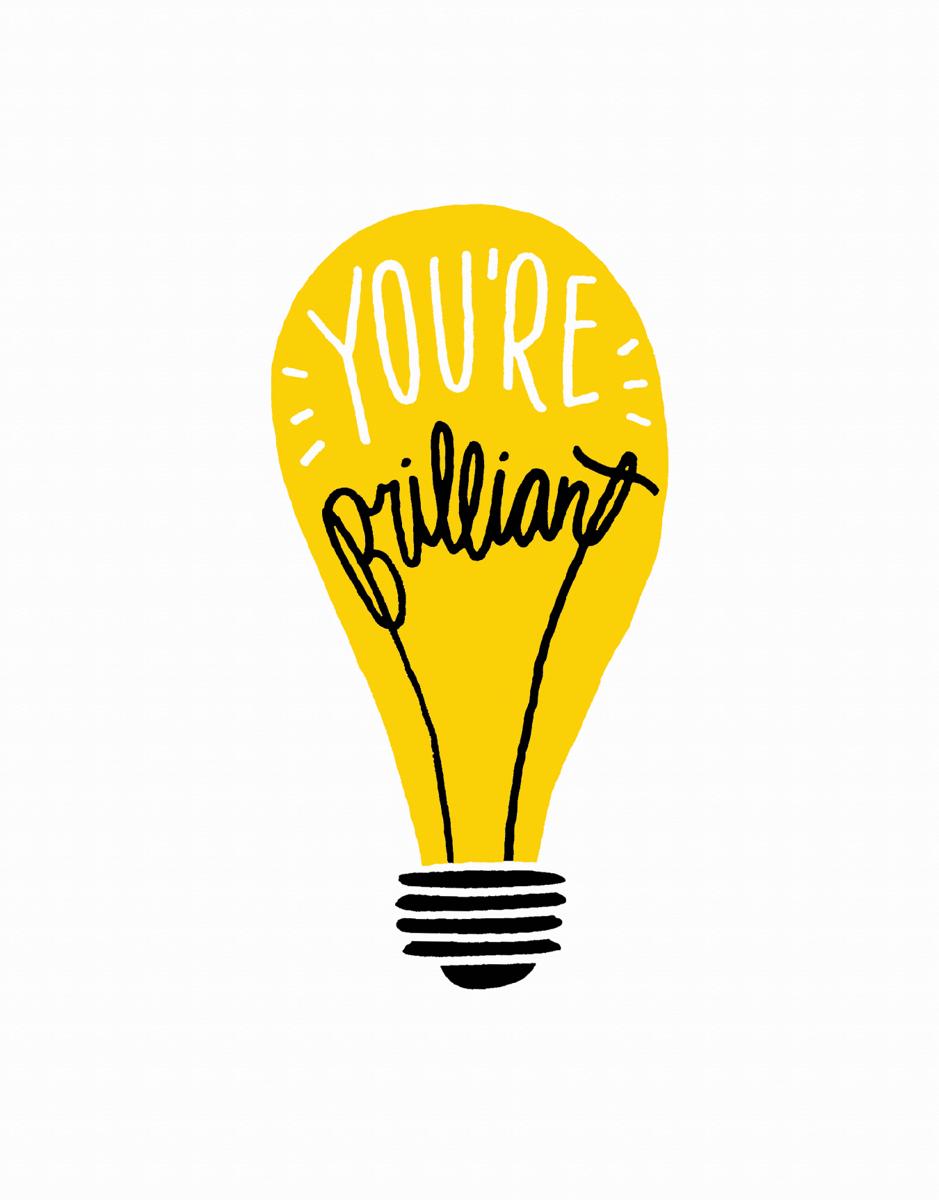 Hand Drawn You're Brilliant Congrats Card