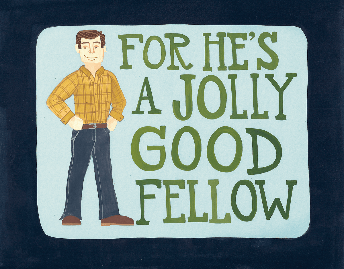Jolly Good Fellow Card