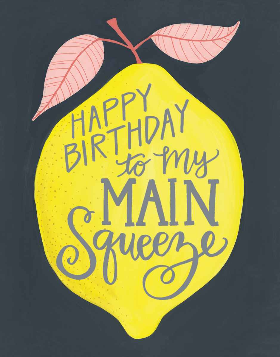 Lemon Squeeze Birthday Card