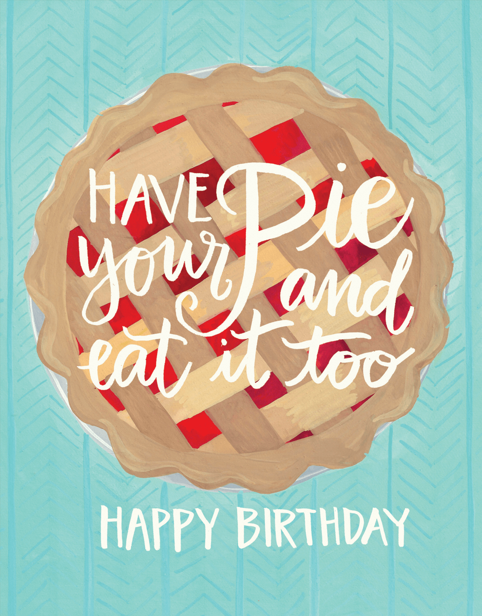Cherry Pie Birthday Card