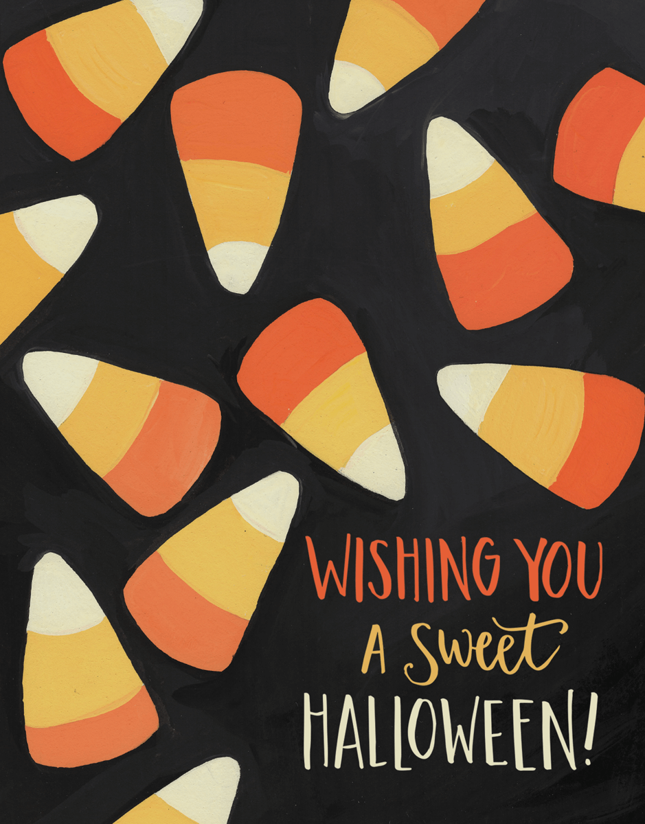 Sweet Candy Corn Halloween Card