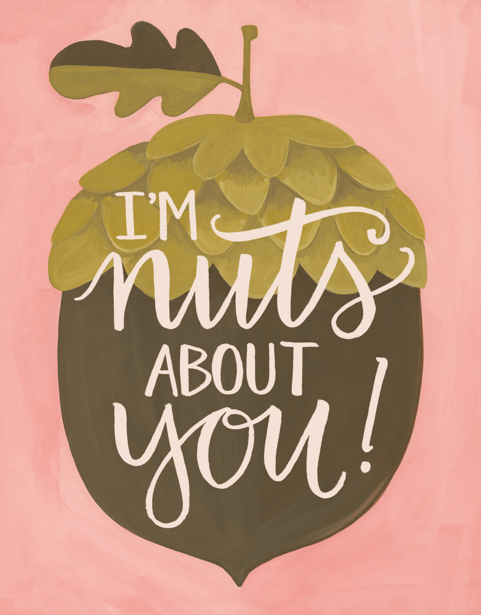 Nuts About You Valentine's Card