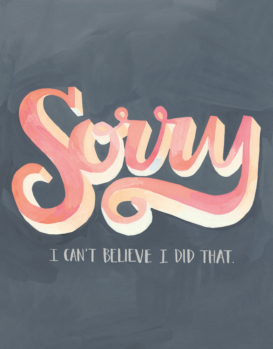 Pink Sorry Apology Card