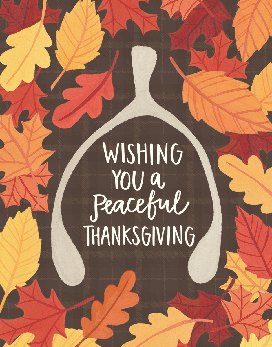 Peaceful Thanksgiving Card