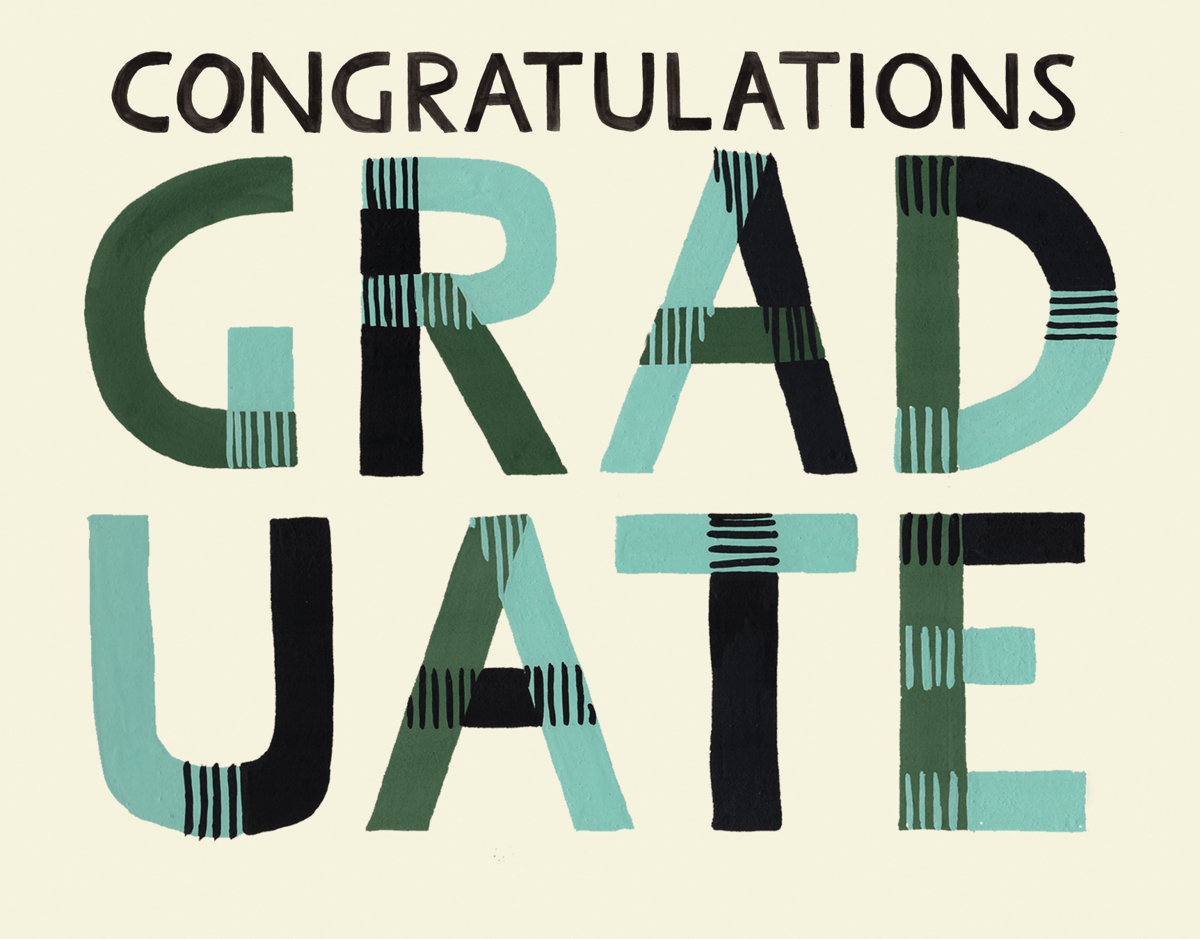 Plaid Graduate Congratulations Card