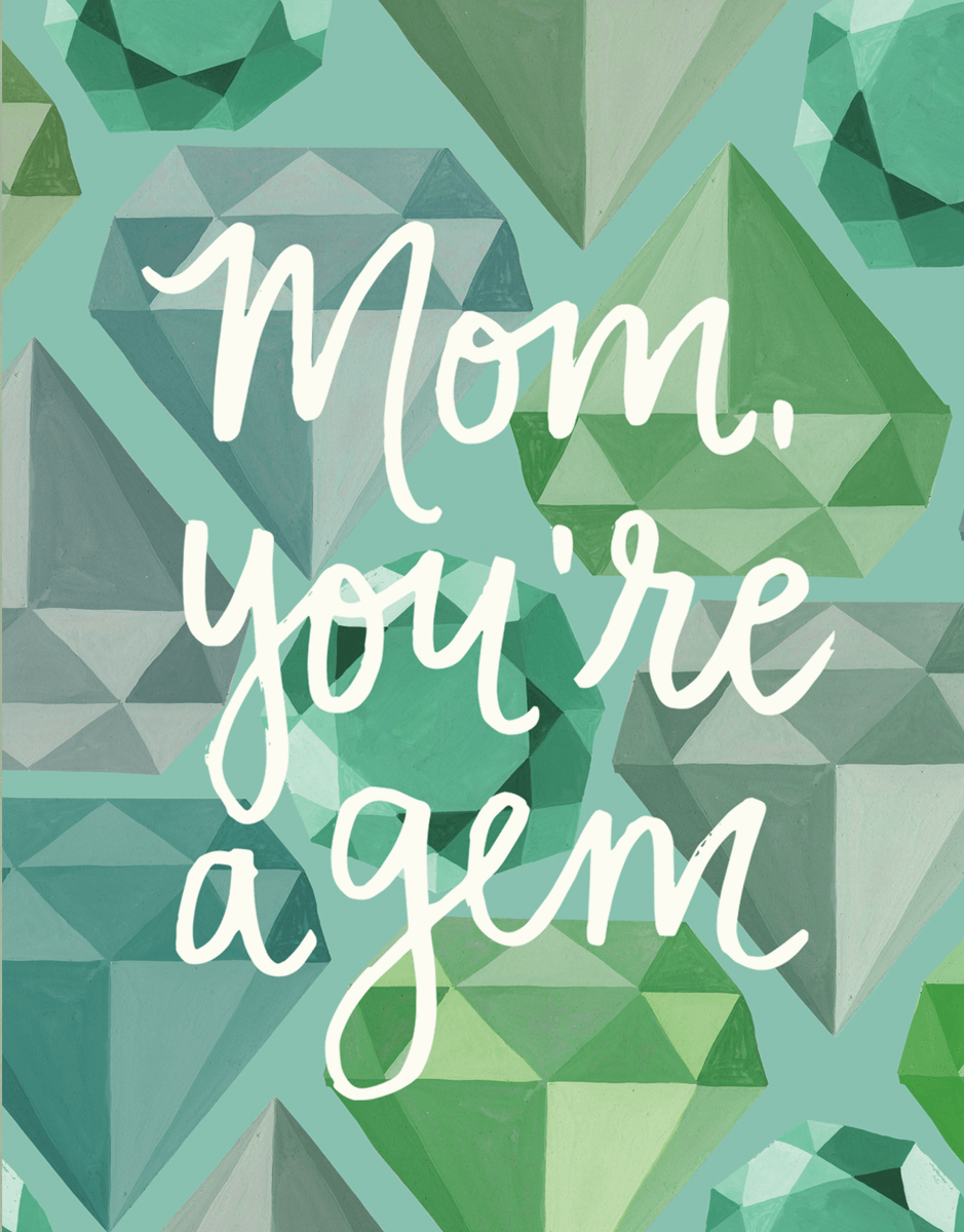 Trendy Gem Mothers Day Card