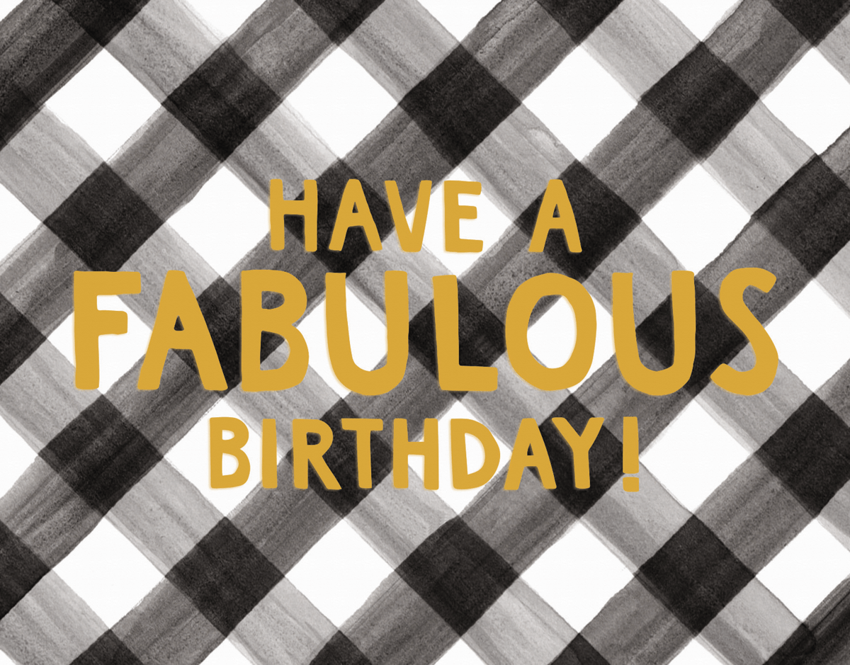 Fabulous Gingham Birthday