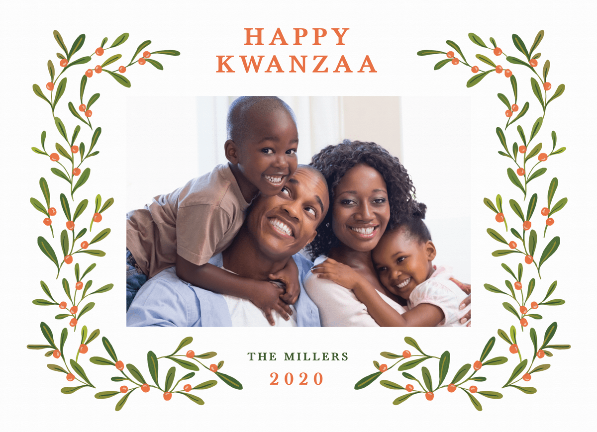 Kwanzaa Holly Frame