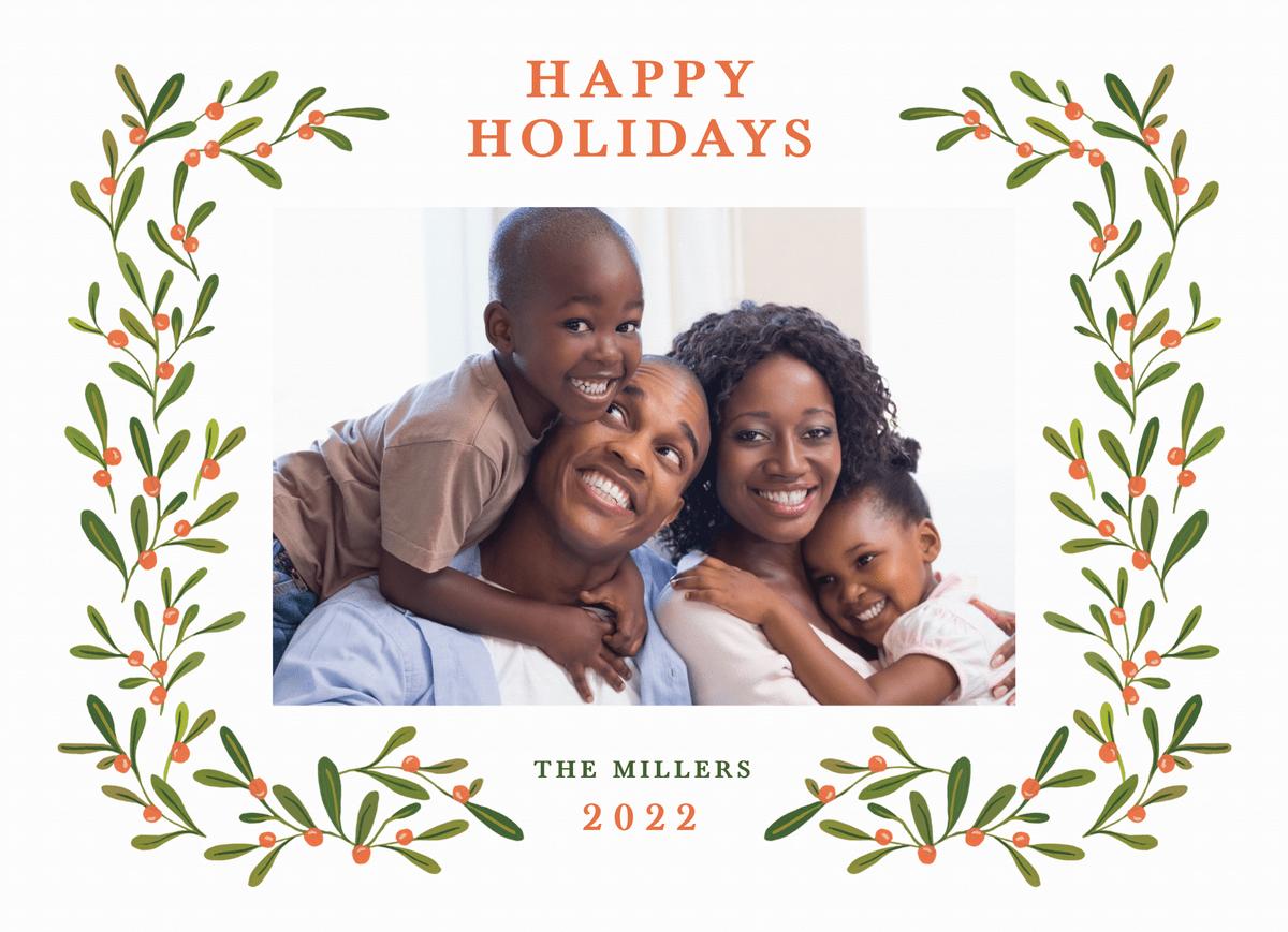 Happy Holidays Holly Frame