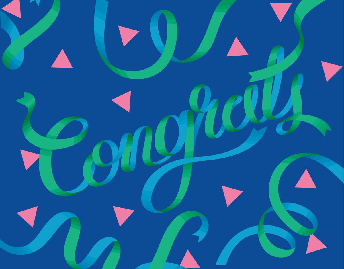 Blue Ribbon Congrats Card