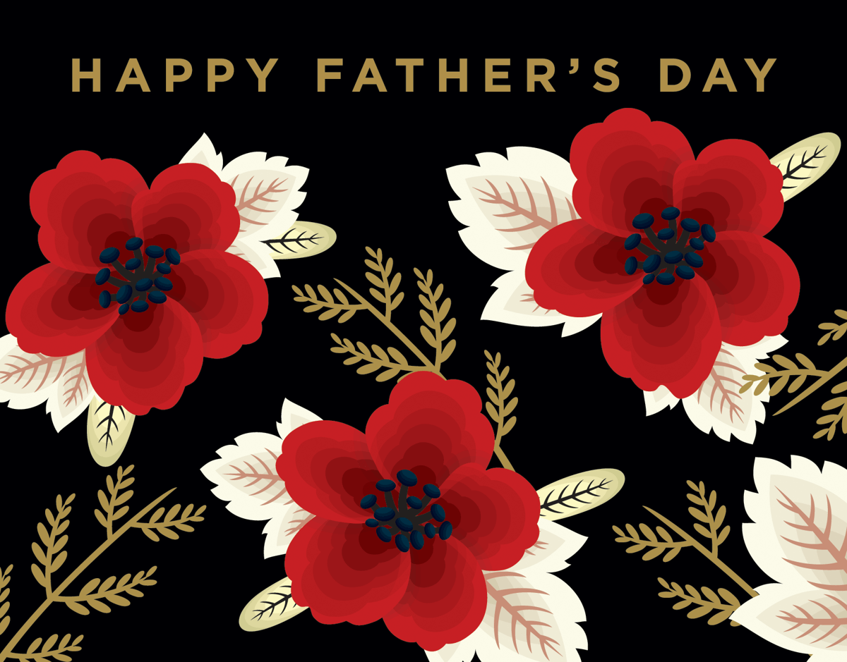 Timeless Wildflowers Father's Day Card