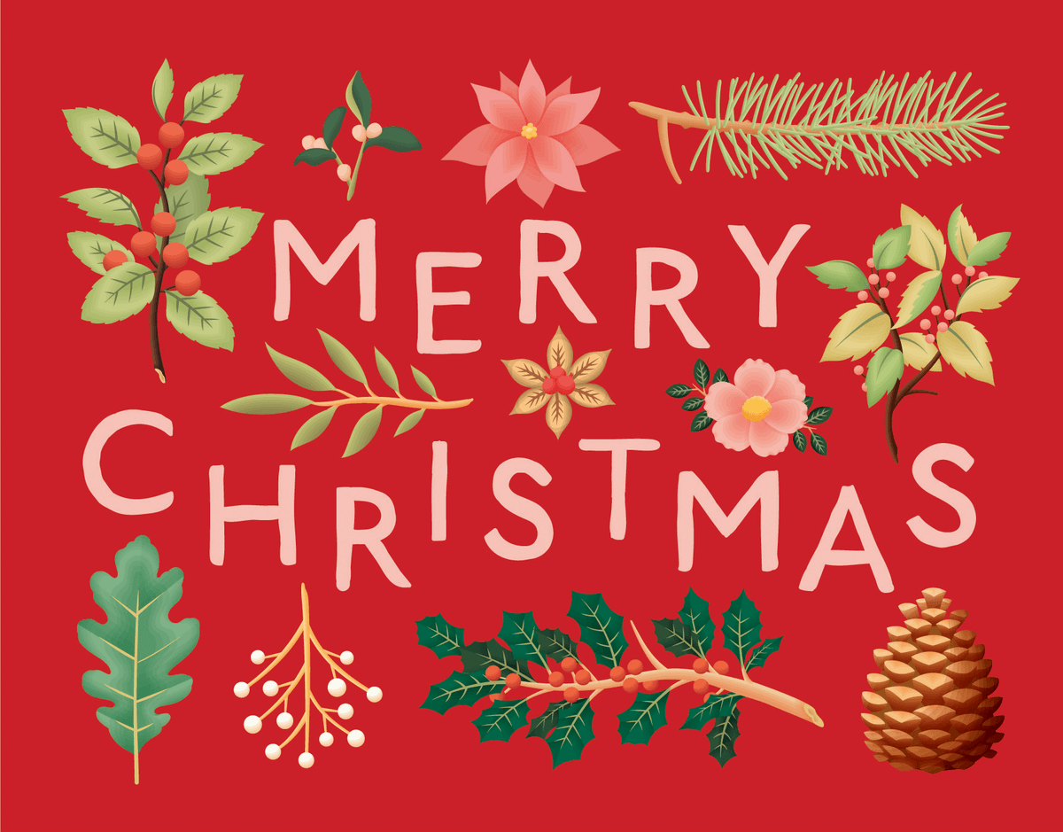 Red Floral Christmas