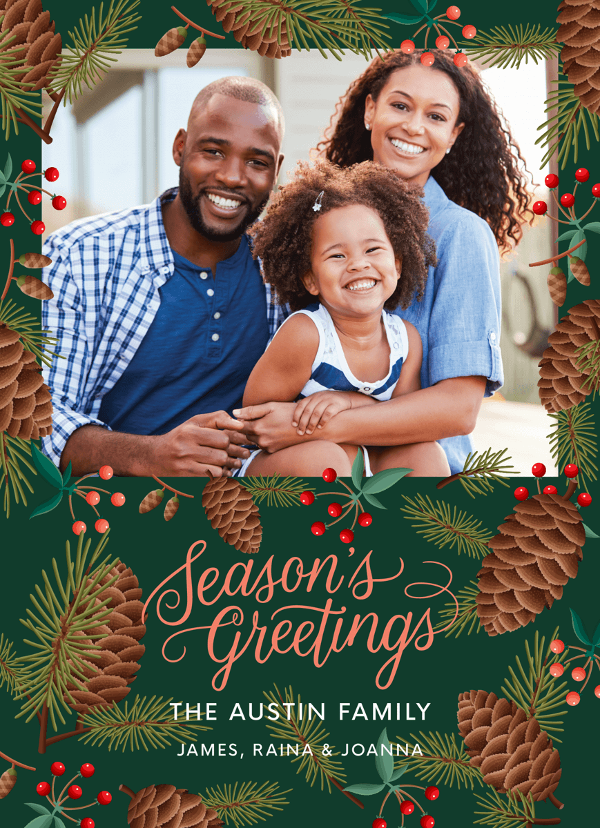 seaons-greetings-photo-card-template