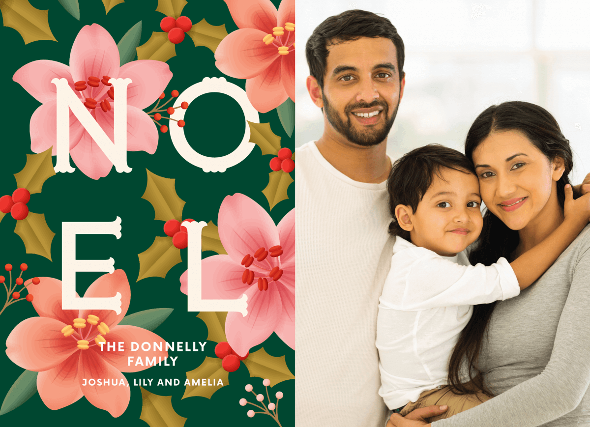 floral-noel-holiday-photo-card