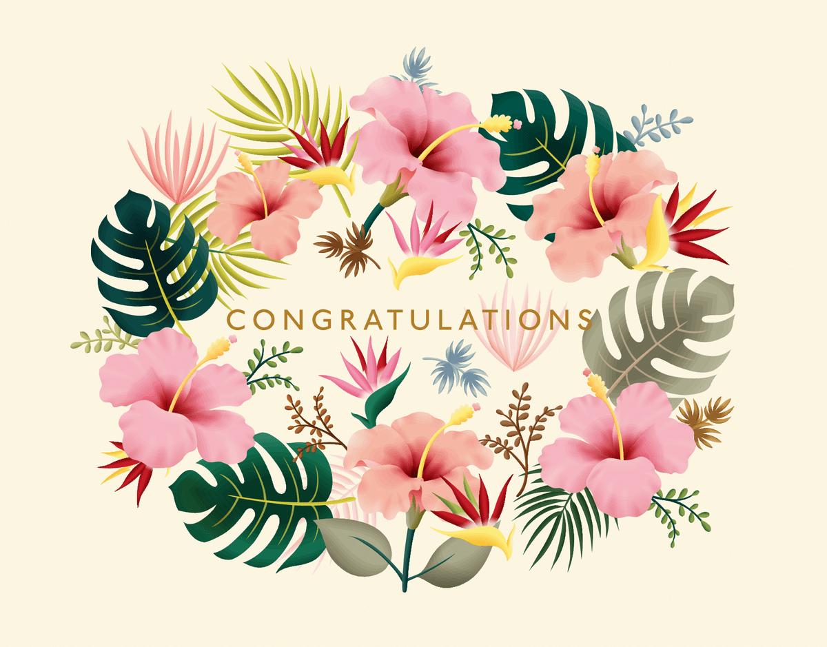 Tropical Congratulations