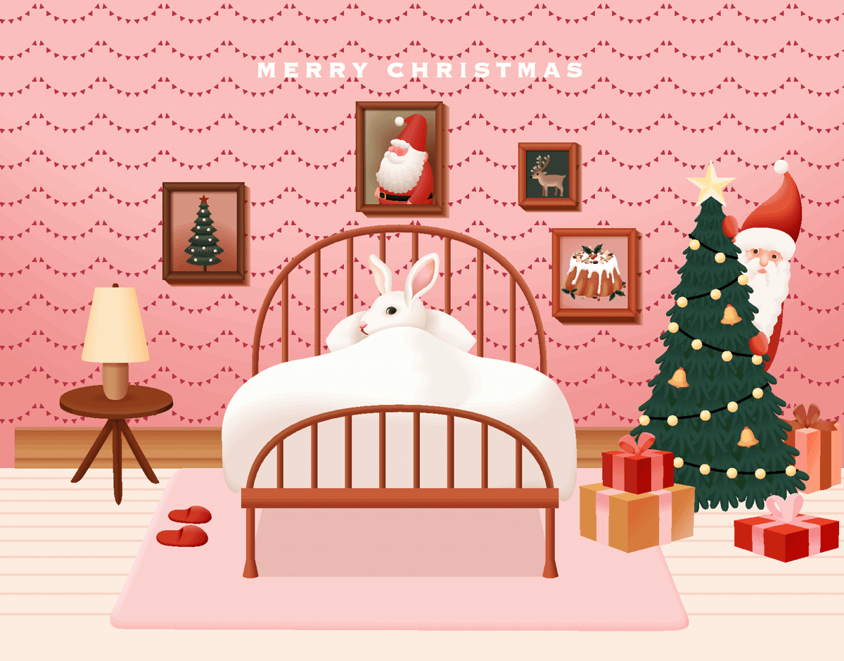 Bunny And Santa