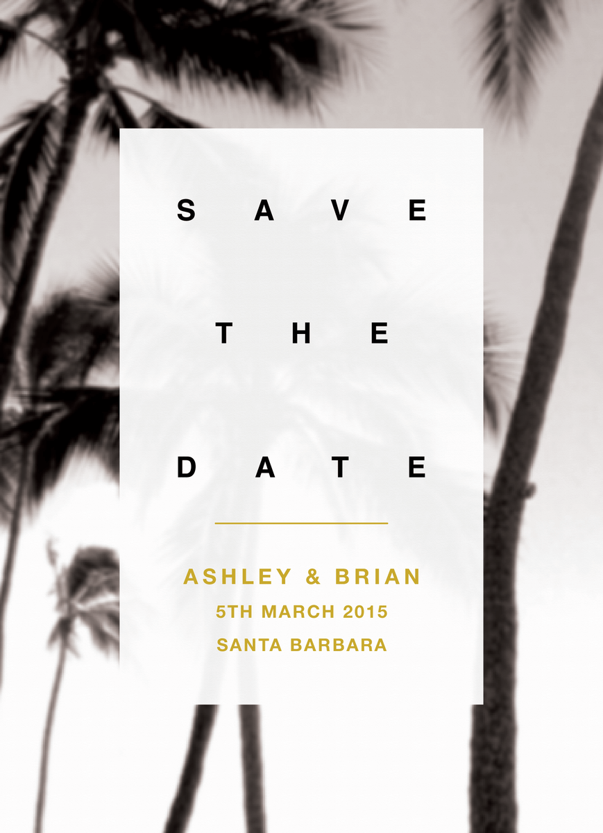 Tropical Palm Save The Date