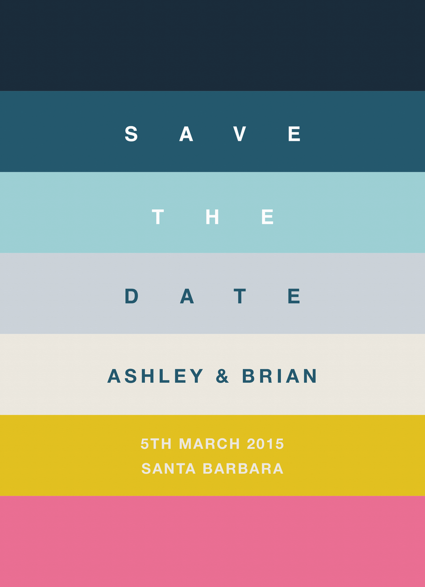 Striped Save the date