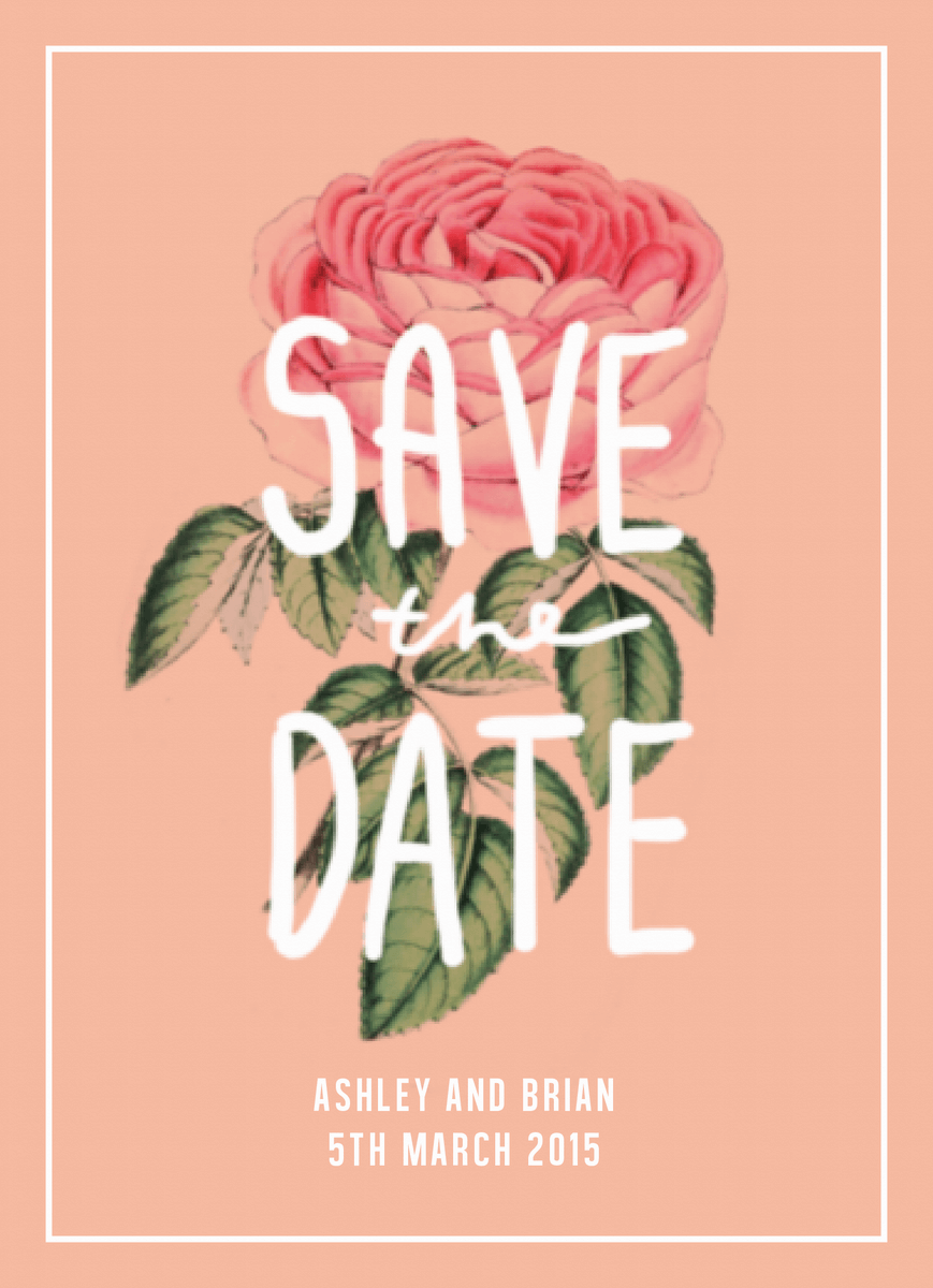 Floral Save the date