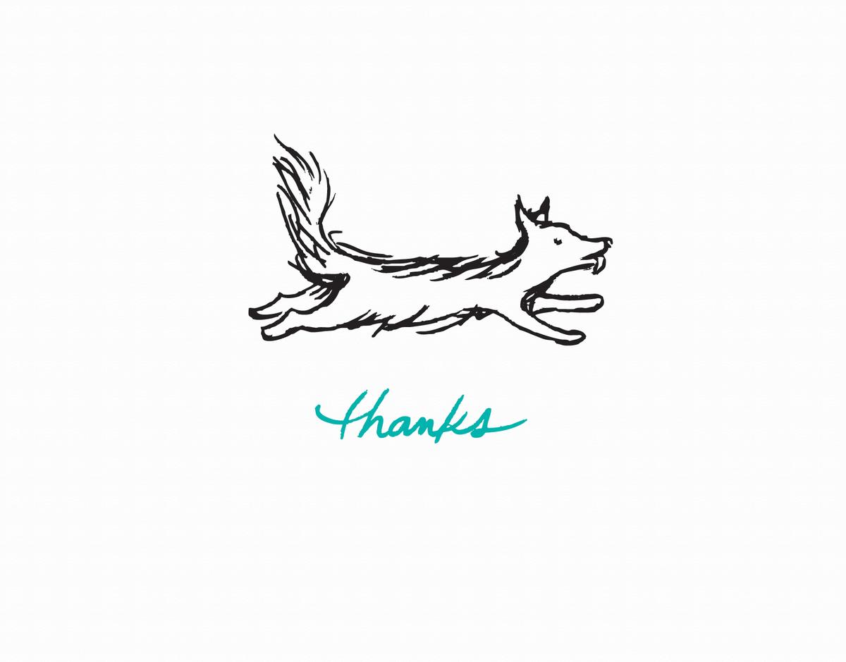 Simple Dog Thanks Greeting Card