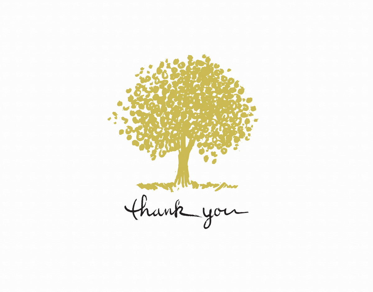 Tree Thanks greeting card