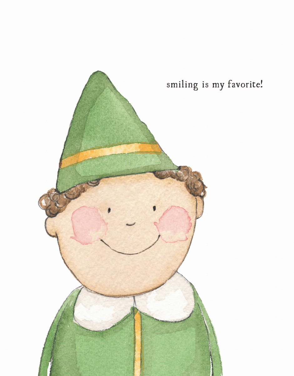 cute-elf-holiday-card
