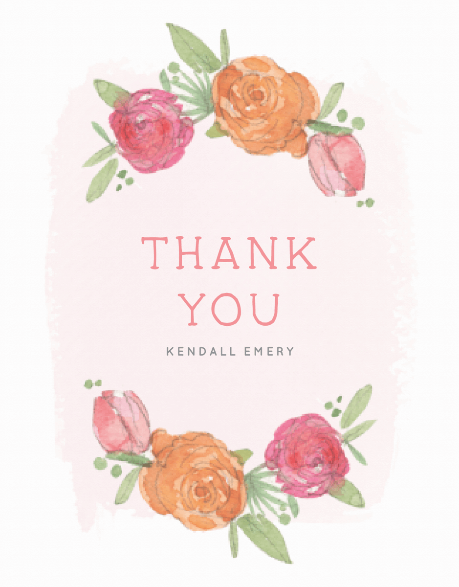 Floral Baby Thank You