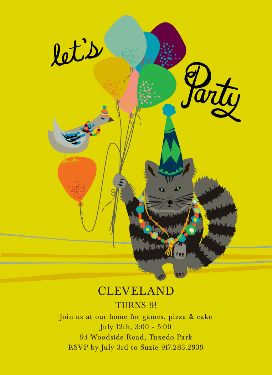 Let's Party Invite