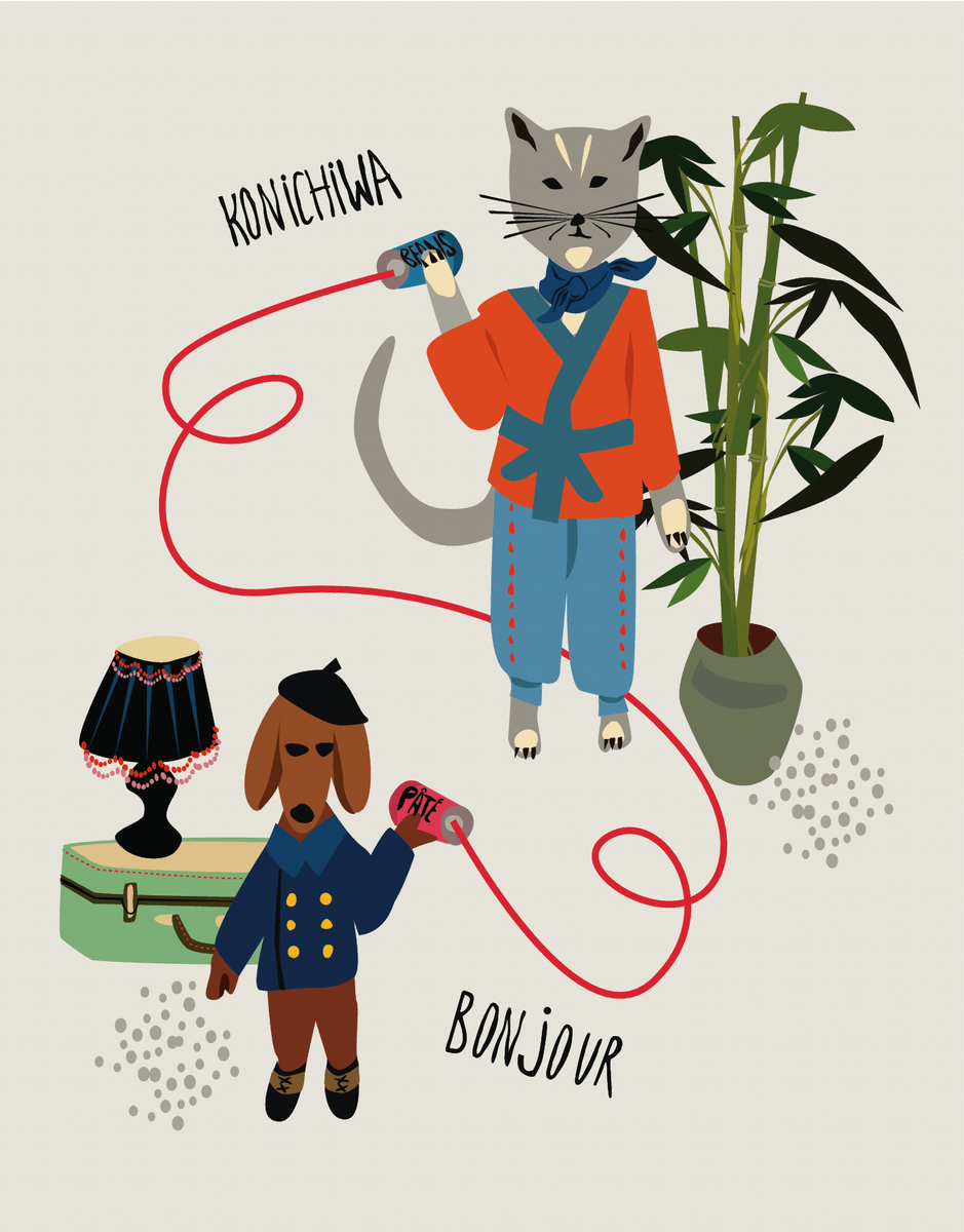 Konichiwa Bonjour
