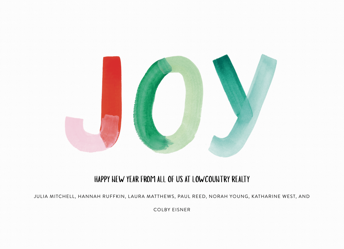 Simple Painted Joy New Year