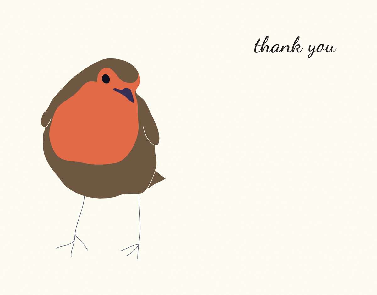 Simple Robin Thank You Card