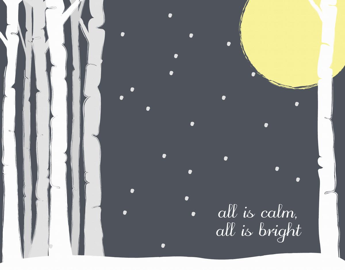 All Is Calm Christmas Card