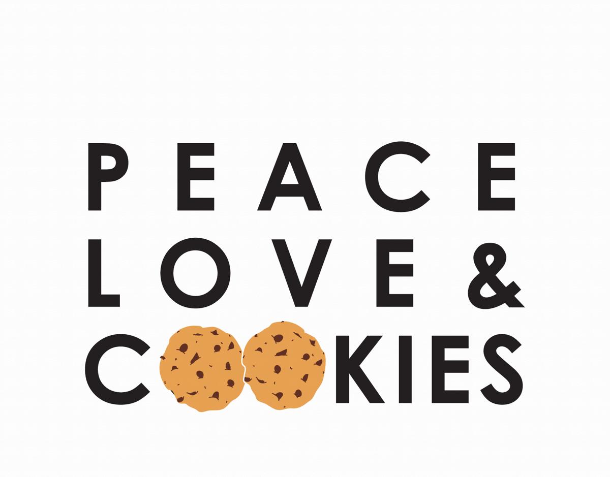 Peace Love & Cookies Friend Card
