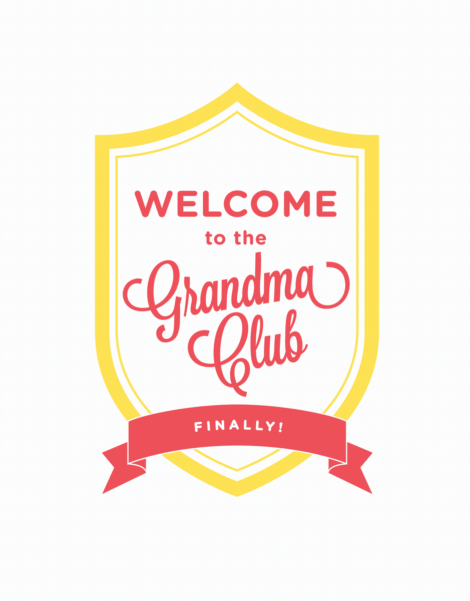 Script Welcome to the Grandma Club Card