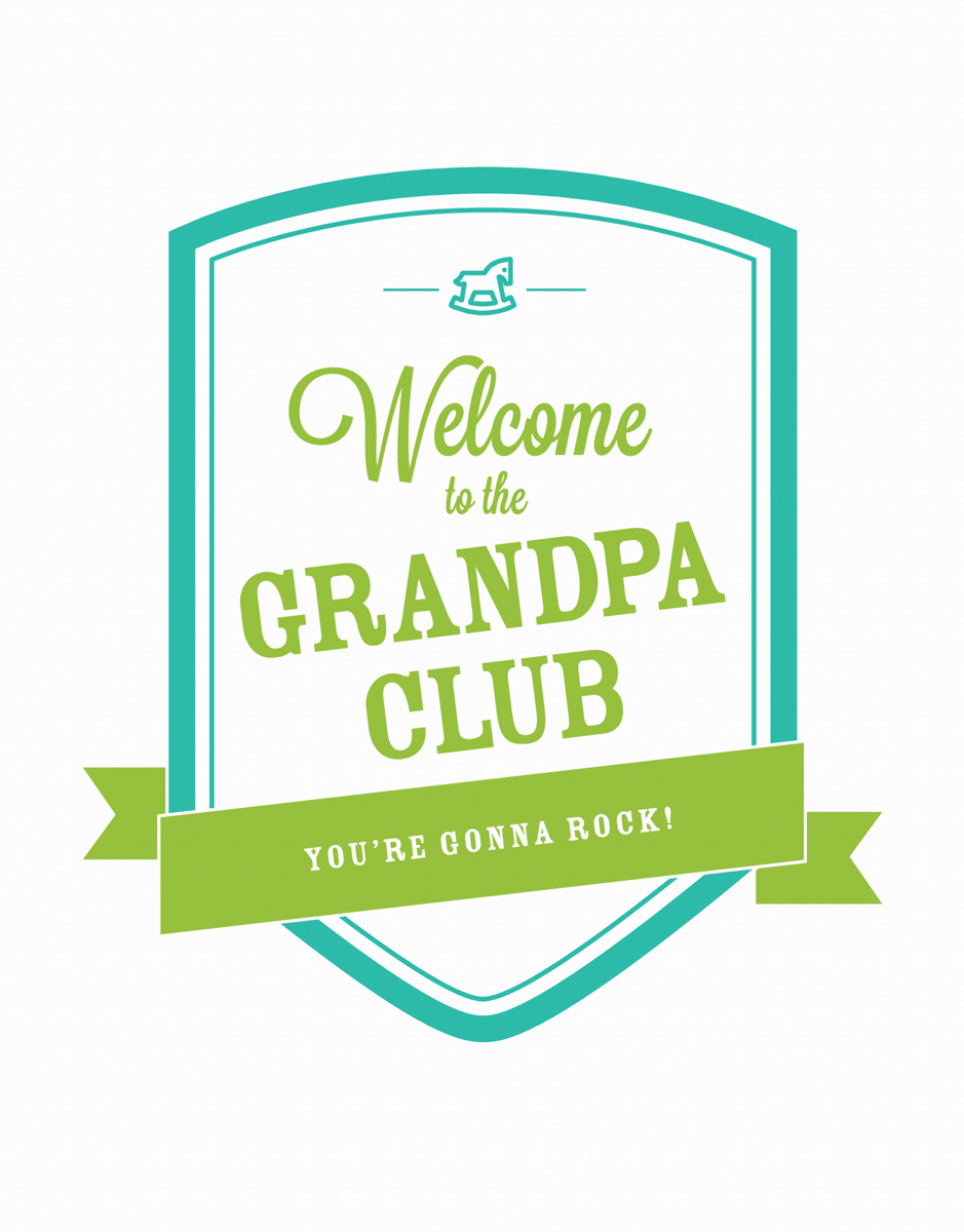 Banner Welcome to the Grandpa Club Card