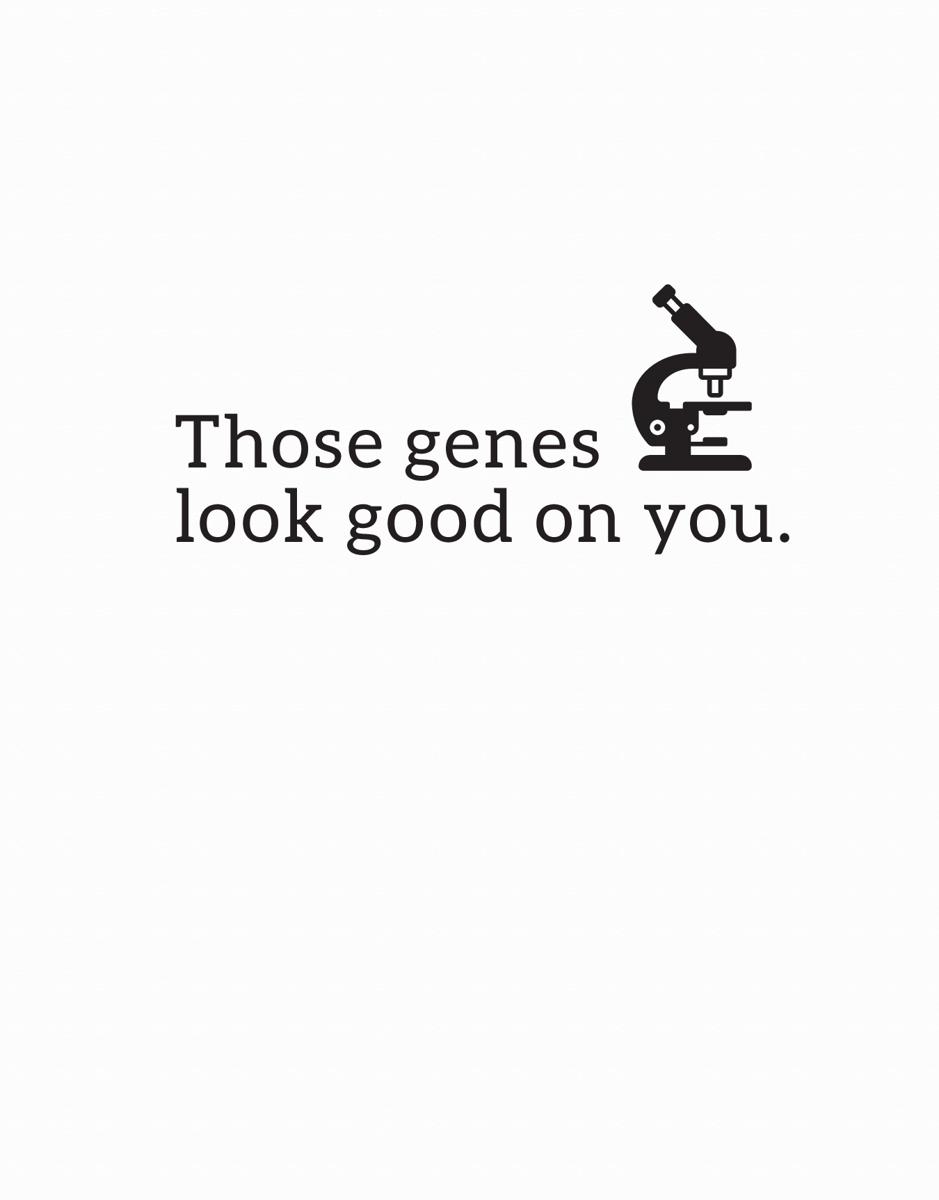 Simple Biology I Love You Card