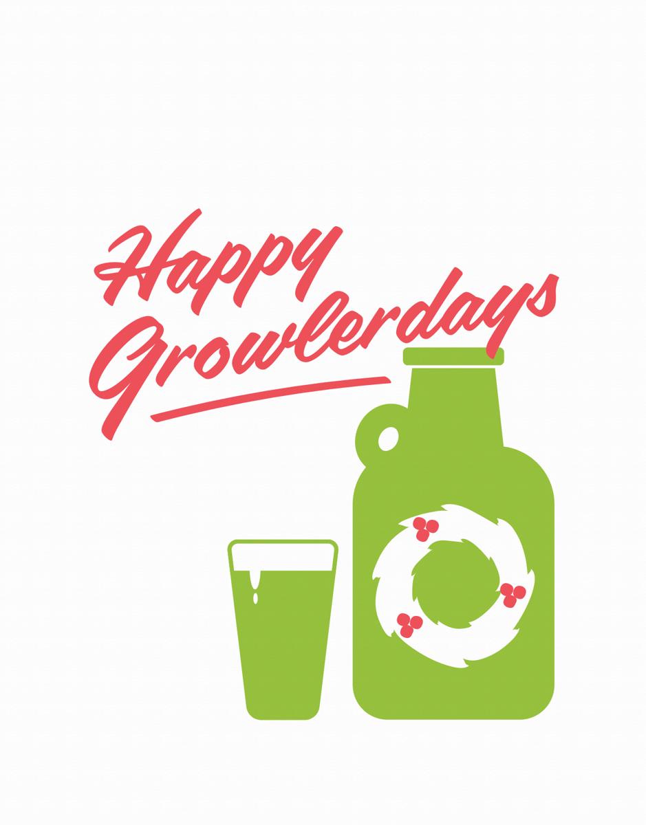 Sarcastic Beer Happy Holidays Card